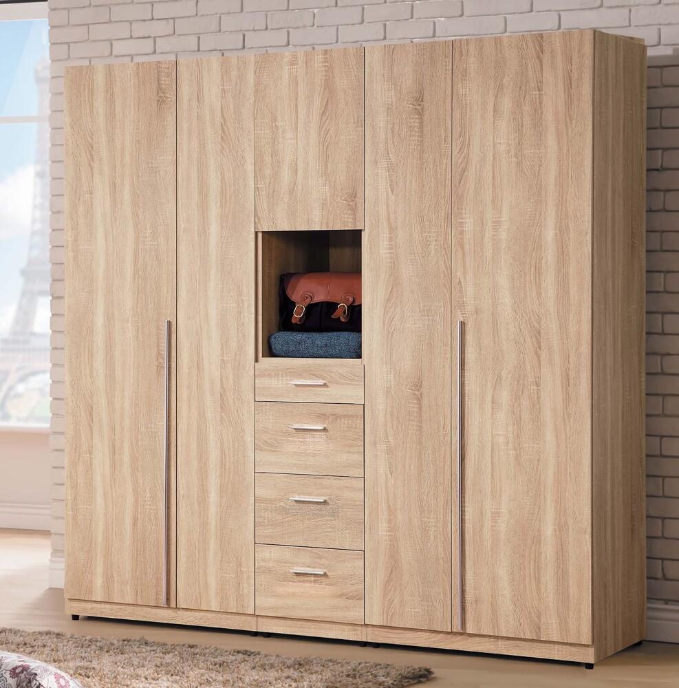 盧卡斯6.4尺組合衣櫥(全組)大台北都會區免運費
