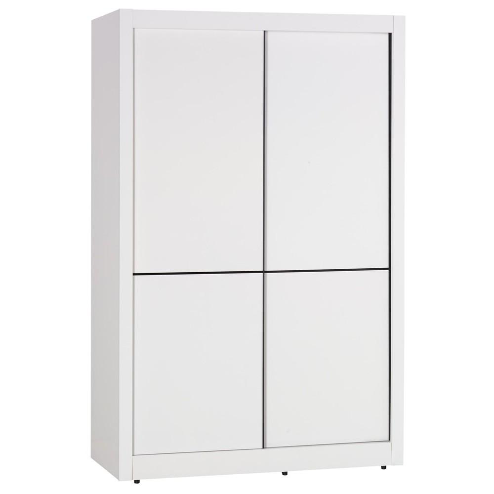 雪白4尺推門衣櫥/推門衣櫃(另售6尺)大台北都會區免運費