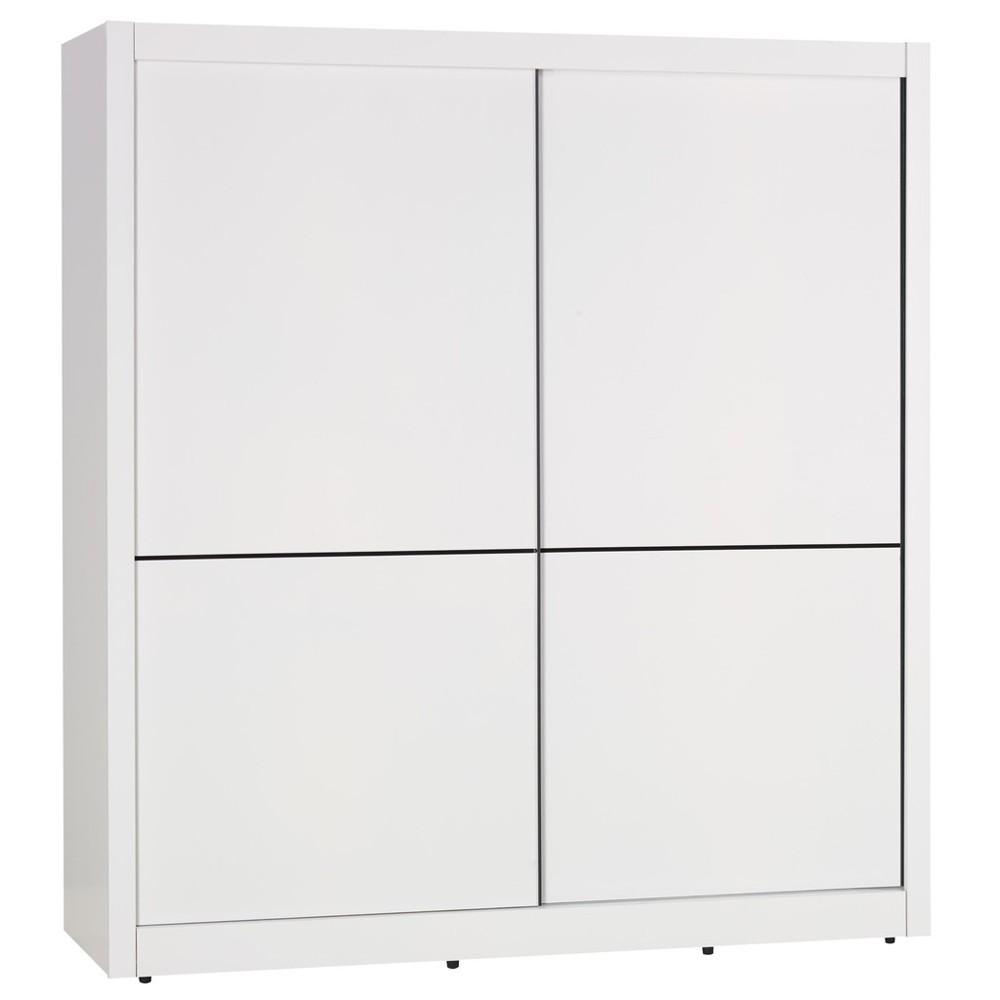 雪白6尺推門衣櫃/衣櫥(另售4尺)大台北都會區免運費