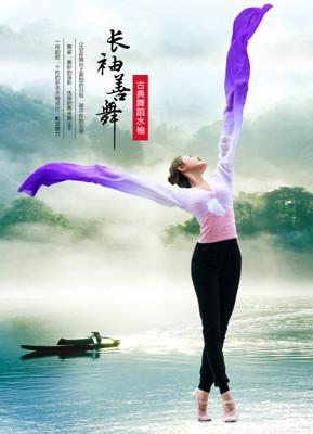 兒童藏族舞蹈服成人驚鴻舞甩袖古典舞演出服練習水袖舞服裝上衣女 錢夫人 (5折)