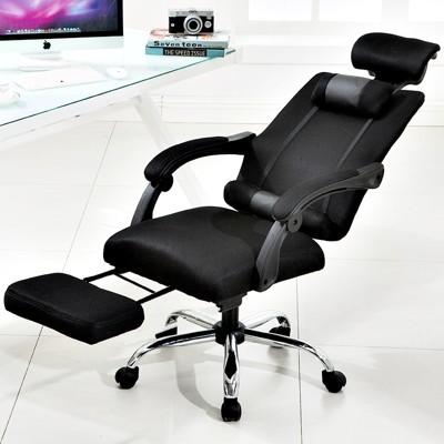【可躺145度 配擱腳墊 附腰+頸枕 旋轉360度 高低可調】電腦椅 書桌椅 旋轉椅辦公椅搖椅躺椅工 (6.5折)