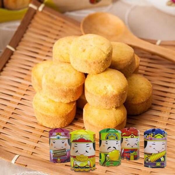 五路財神年節禮盒小鳳梨酥(1盒/10個1個/15g)