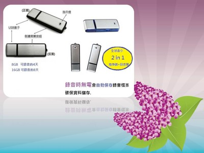 隨身碟型USB錄音筆 16G (3折)