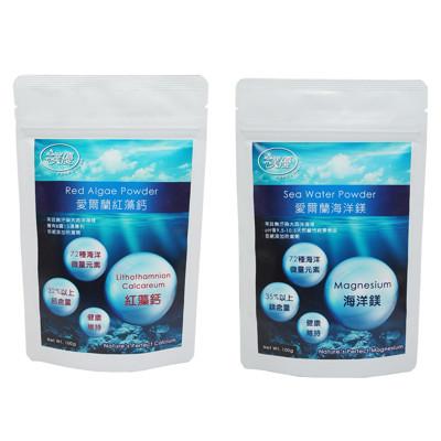 【樸優】愛爾蘭紅藻鈣+海洋鎂超值1+1組(100g/包) (5.3折)