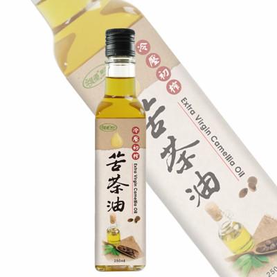 【樸優樂活】冷壓初榨苦茶油(250ml/瓶) (2.6折)