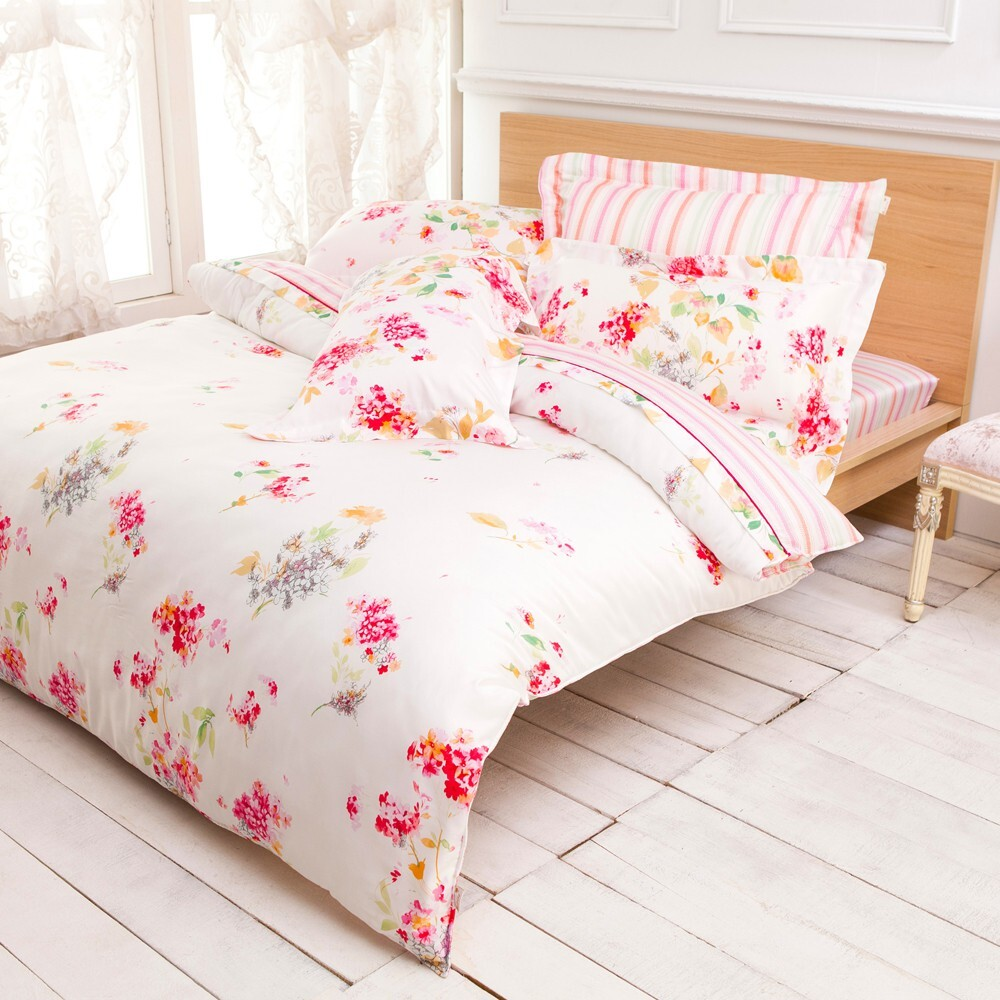 betrise夢語季節加大/特大-100%天絲tencel三/四件式鋪棉兩用被床包組 - 特大-