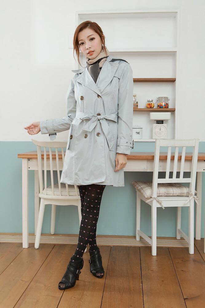 雨洋工坊x下雨天也可以很美麗系列時尚防水雙排釦風雨衣