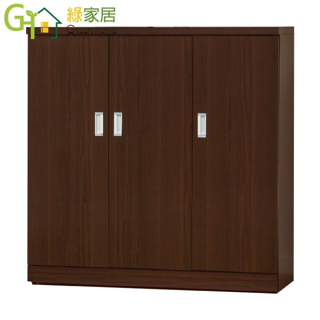 綠家居達尼 時尚4尺木紋三門鞋櫃/玄關櫃