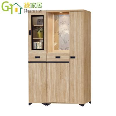 【綠家居】史可加 時尚4尺木紋四門高雙面櫃/玄關櫃 (5折)