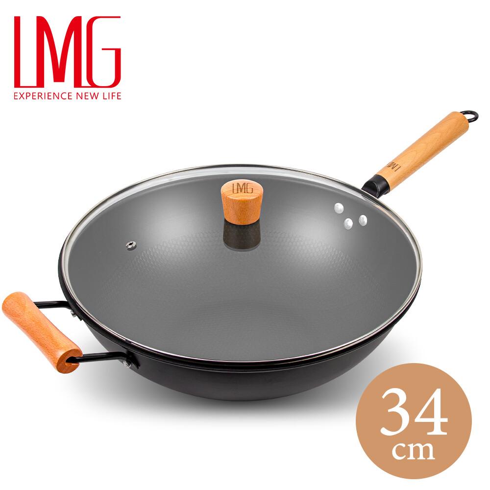 lmg 長野不沾熟鐵鍋-34cm 升級版 (贈木鏟)