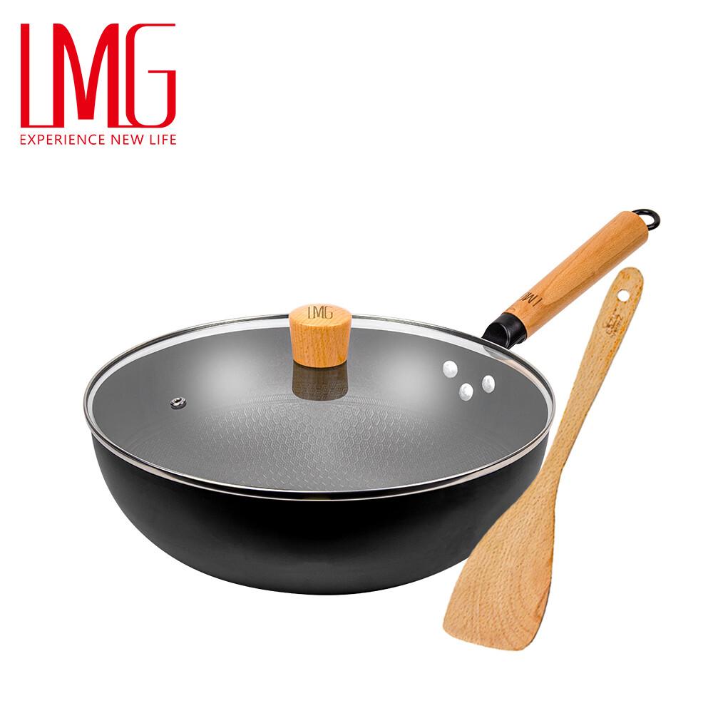 lmg 長野不沾熟鐵鍋-30cm 升級版 (贈木鏟)