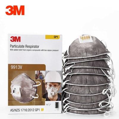 3M GP1 拋棄式防塵口罩 9913V 含活性碳頭戴式有閥 P1口罩 3M口罩 (7.2折)