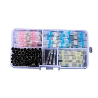 防水免焊熱縮套管SG585(100P盒裝)不用電火布 接電神器 免焊熱縮套管防水連接器 低溫焊錫環 (7.2折)