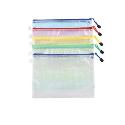 a4網格文件袋old90 手提袋 防水袋 資料袋 資料夾 網格袋 拉鍊袋 文具袋 網格拉鍊袋 (1折)