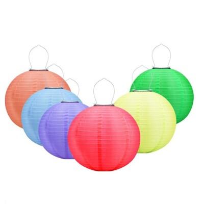 12寸太陽能燈籠戶外防水30CM太陽能掛燈節日LED吊燈籠中國慶典燈會 (6折)