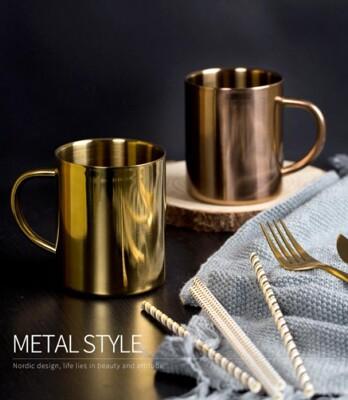 304雙層不鏽鋼杯【NT071】400ML不鏽鋼馬克杯 啤酒杯 不銹鋼杯 露營杯 環保杯辦公室用 (7.7折)