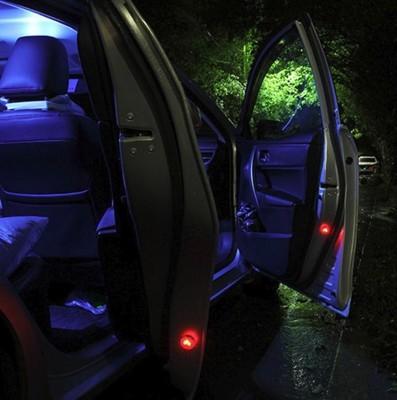 安全無線車門防撞警示燈 汽車LED車門警示防撞燈裝飾燈免改裝無線防追尾感應燈車門爆閃燈 (4.3折)