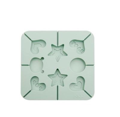 糖果/棒棒糖模具日本烘培DIY兒童方形愛心卡通糖果蛋糕模棒棒糖巧克力矽膠模具 (4.9折)