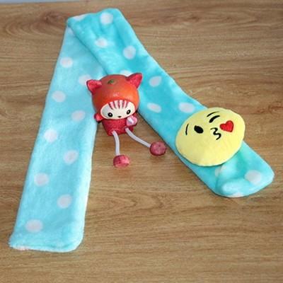 法蘭絨 表情符號 寶寶圍巾 兒童圍巾 脖巾 78公分長 (4.9折)