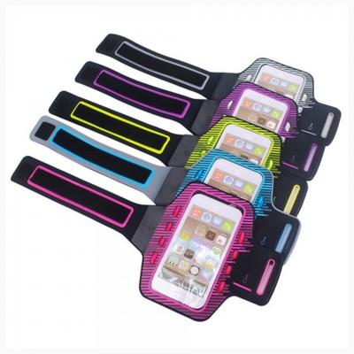 夜間戶外運動 LED發光 手機臂套 5.5吋手機 輕薄透氣 魔鬼沾 (6.5折)