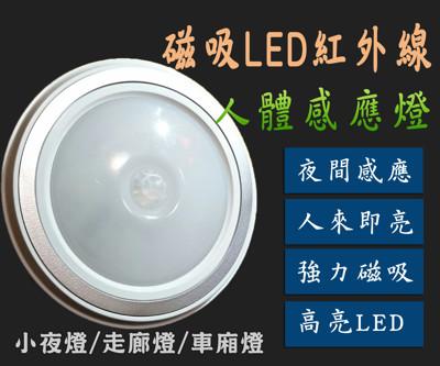 磁吸LED紅外線人體節能感應燈 超亮5LED燈珠 白光 暖白光 小夜燈 衣櫃燈 車廂燈 人體感應 (3.2折)