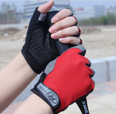 男女騎行健身防繭防滑半指手套 (3折)