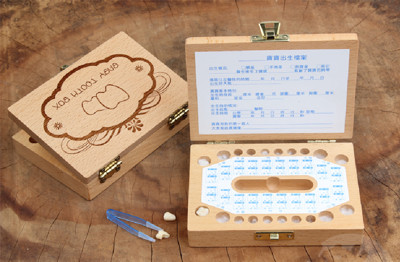 手工寶寶紀念品胎毛乳牙盒 (3.9折)