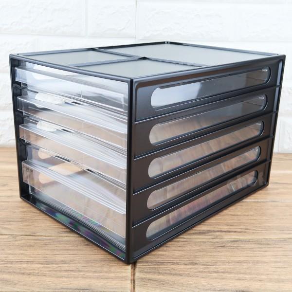 樹德a4資料櫃4格抽屜文件櫃桌上櫃辦公櫃dd-1213-大廚師百貨 - 黑色