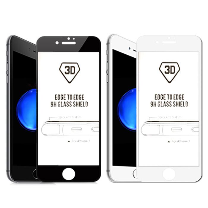 美國玻璃材質 iphone se2/ 6/7/8/6 plus/7/8 plus 3d曲面鋼化玻璃貼