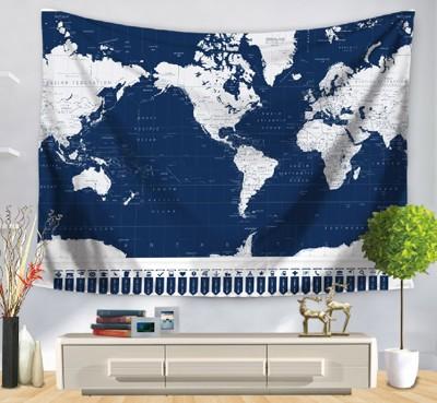 床頭掛毯、世界地圖標示掛布 (8.3折)