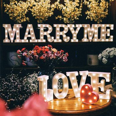 極美LED愛心燈字母燈 生日派對 婚禮告白 節日慶祝 (3.8折)