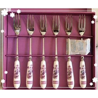 太和工房~sus316不銹鋼點心餐具組內含六支水果叉-超值 (10折)