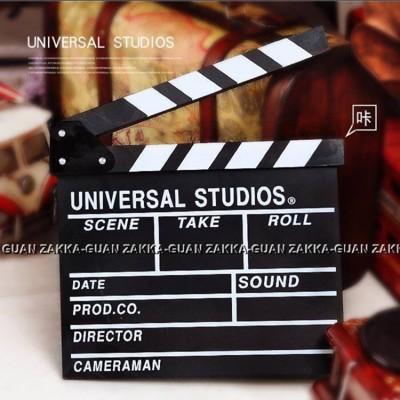 導演 電影拍板  小黑板 攝影道具 黑色場記板 婚紗 拍照 道具 (10折)
