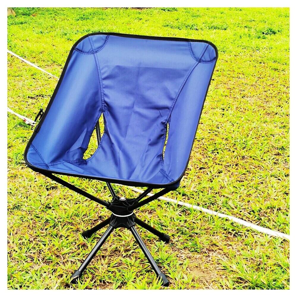 戶外折疊椅360度可旋轉休閒椅鋁合金超輕便攜釣魚椅露營旋轉椅子
