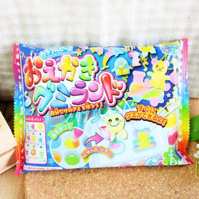 一起創造自己的軟糖吧~【Kracie】知育果子-自己動手畫糖果 (1.2折)