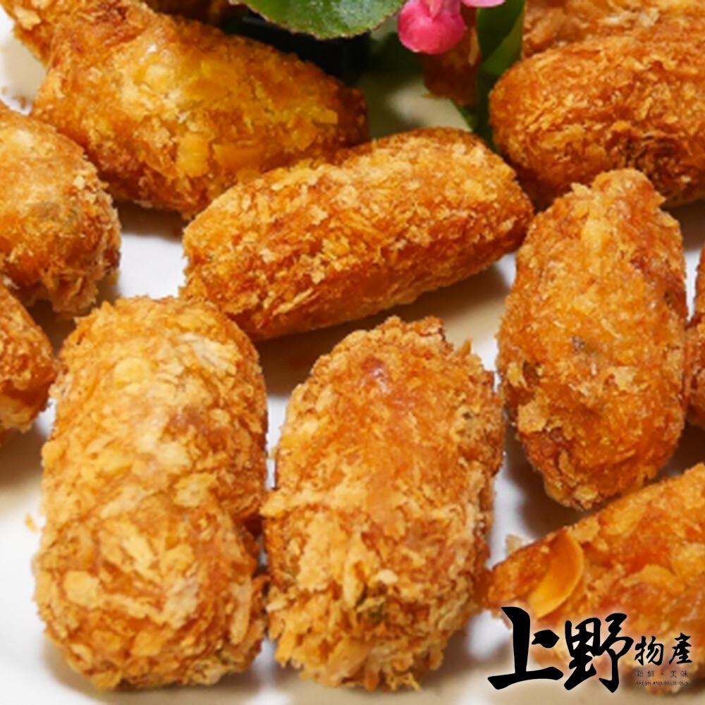 上野物產台灣製品酥脆杏仁蝦酥(300g%/10條/包)
