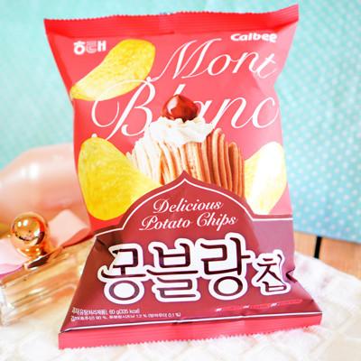 【即期大特價】韓國期間限定!!! 【HAITAI】栗子蒙布朗蛋糕洋芋片C21-2 (0.1折)