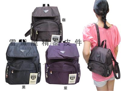 後背包小容量防水尼龍布多袋口設計台灣製 (3.2折)