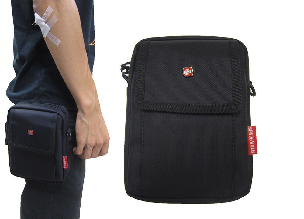 腰包6吋手機拉鍊主袋外袋5.5寸手機外掛式工具包隨身物品主袋+外袋共二層防水尼龍布