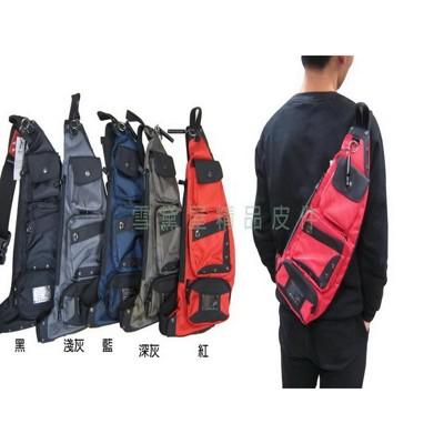 ~雪黛屋~SPYWALK單肩後背包酷造型多袋口百搭萬用防水尼龍布+皮革材質中型容量外出休閒上班上學 (10折)
