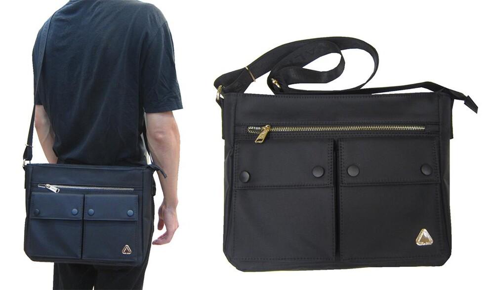 側背包大容量可a4紙10吋電腦主袋+外袋共五層防水尼龍布材質上學上班外出全齡適用