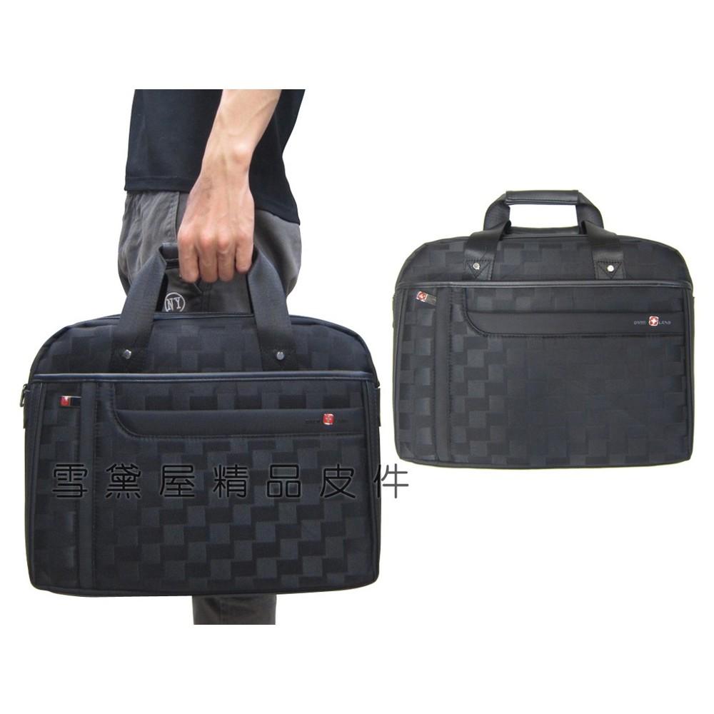 ~雪黛屋~over-land 文件包中容量可放a4資夾主袋+外袋共六層二層主袋提肩背斜側背防水尼龍布