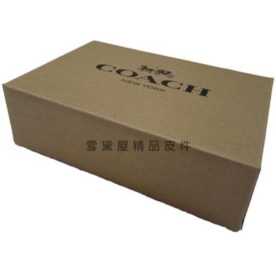 ~雪黛屋~COACH 短夾盒國際正版短型皮夾小型包小手拿包紙盒進口厚紙材質可摺疊收納展開為盒#888 (10折)