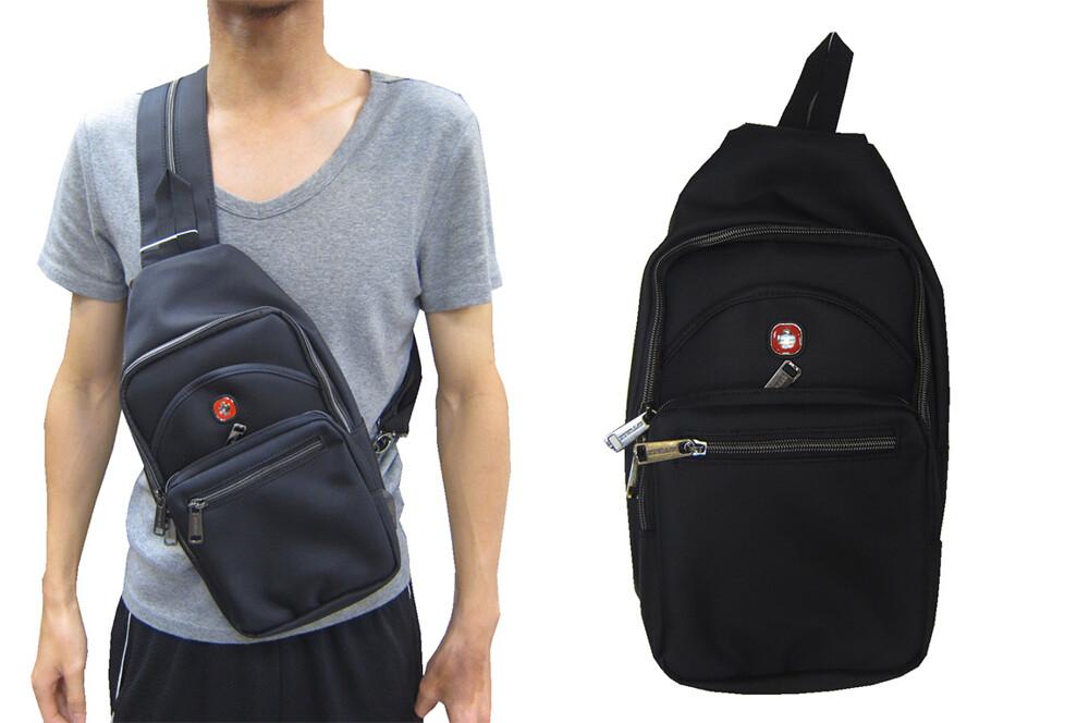 單後背包小容量單左肩單右肩雙後背反背為胸前usb充電設計主袋+外袋共五層防水尼龍布