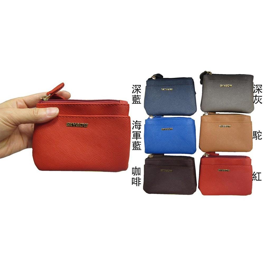 skybow 零錢包中容量主袋+外袋共五層可信用卡三層主袋進口防水防刮皮革零錢證件