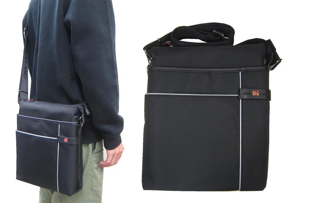 肩側包中容量主袋+外袋共六層扁型包設計三層主袋口防水尼龍布+皮革中性款男女適用