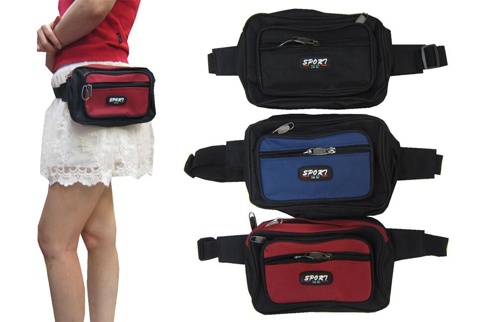 ~雪黛屋~sport 腰包中容量外袋+主袋共四層工作包運動休閒外出旅遊重要物品包防水尼龍布材質可刷洗