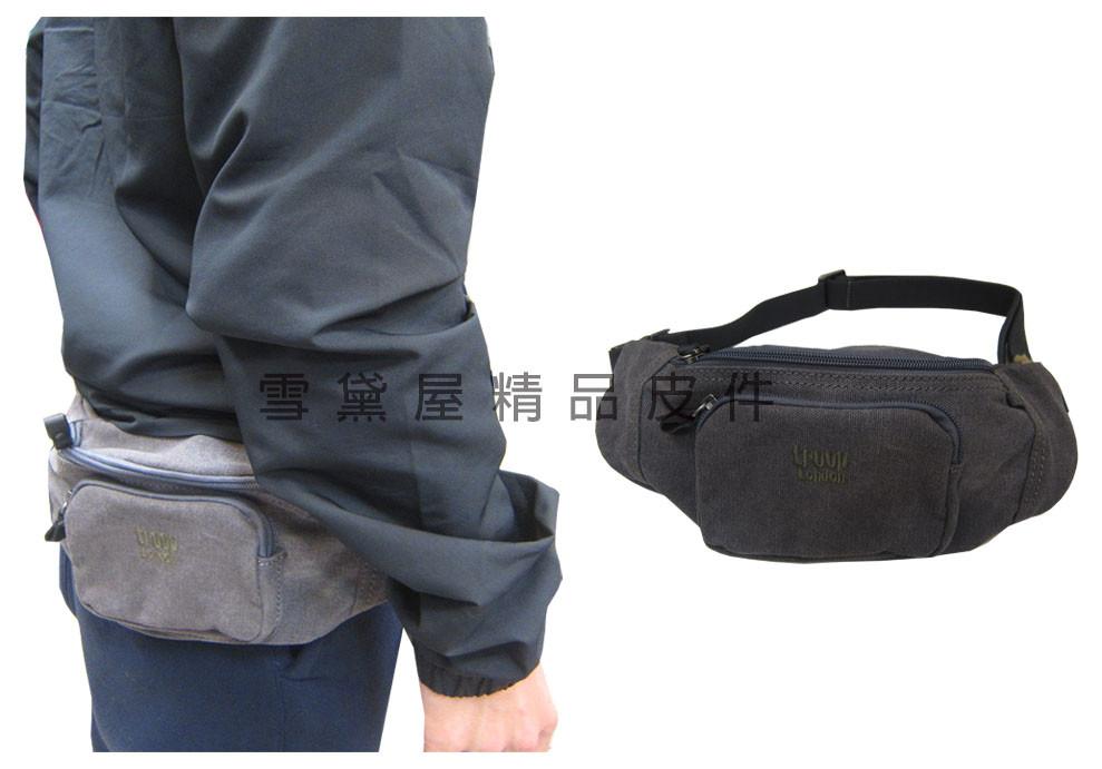 腰包小容量經典英國手工製帆布100%純棉加強防水帆布最大51腰肩斜腰背全齡男女適用