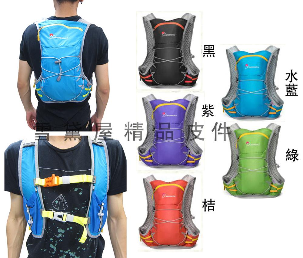 mountaintop 後背包小容量15l背心式貼身後背包胸釦護腰出水孔反光安全超輕防水尼龍布