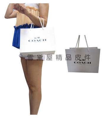 COACH 紙提袋國際正版長型皮夾小型包小手拿包紙提袋進口紙材質可摺疊收納展開為提袋-紙提袋 (2.5折)